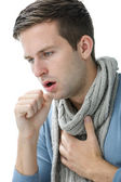 Young manl having a cold — Stock Photo