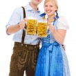Stock Photo: Couple with beer