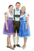 Young people in traditional bavarian tracht — Stock Photo