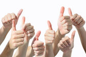 Hands giving thumbs up — Stock Photo