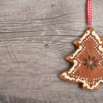 Gingerbread christmas tree — Stock Photo