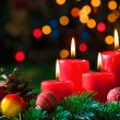 Advent candles — Stockfoto