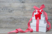 Stack of Christmas gifts — Stock Photo