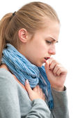 Young woman having a cold — Stock Photo