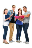 Group of the college students — Stock Photo