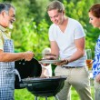 Family having a barbecue party — Stock Photo #34769465