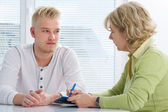 Teenager having a therapy session — Stock Photo