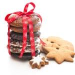 Home baked christmas cookies — Stock Photo