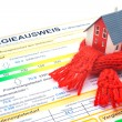 Stock Photo: House energy efficiency concept