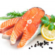 Fresh salmon fillet — Stock Photo #36259079