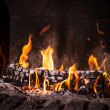 Fire in fireplace — Stock Photo #36662267