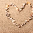 Sea shell heart shape — Stock Photo
