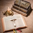 Bible open on table — Stock Photo #37525295