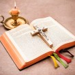 Bible open on table — Stock Photo #37525413