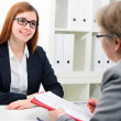 Job applicant having an interview — Stock Photo #39632241