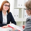 Stock Photo: Job applicant having an interview