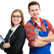 Stock Photo: Apprentices for handyman and office