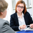 Job applicant having an interview — Stock Photo #39632321