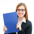 Woman holding files for a job interview — Stock Photo #39632365