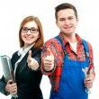 Apprentices for handyman and office — Stock Photo #40243503