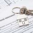 Mortgage loan agreement application — Stock Photo