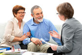 Meeting with real estate agent — Stock Photo