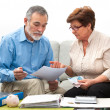 Couple calculating home finances — Stock Photo #41207149