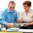 Stock Photo: Couple calculating home finances