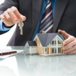 Stock Photo: Purchase agreement for house