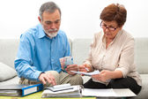 Couple calculating home finances — Stock Photo