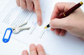 Rental agreement — Stock Photo