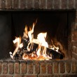 Fire in fireplace — Stock Photo #41868067