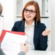 Job applicant having an interview — Stock Photo