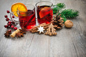 Delicious mulled wine — Stock Photo