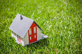 House in green grass — Stock Photo