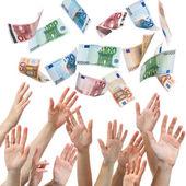 Geld-regen — Stockfoto