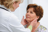 Thyroid function examination — Stock Photo