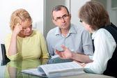 Paar gelet relatie counseling — Stockfoto