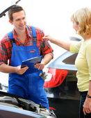 Oficina de reparação automóvel — Foto Stock