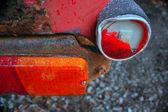 Coche, fragmento es único objeto de arte — Foto de Stock