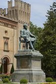 Verdi statue in Busseto — Stock Photo
