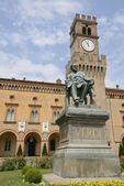 Verdi monument in Busseto — Stock Photo
