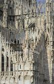 大教堂的大理石装饰米兰 — 图库照片
