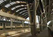 Iron vaulted platforms, Milan — Fotografia Stock