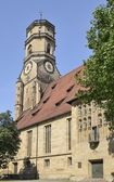 Stiftskirche south side, Stuttgart — Stock Photo
