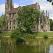 Johannes church and Feuersee, Stuttgart — Stock Photo