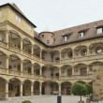 Courtyard at Old Castle, Stuttgart — Stock Photo