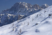 Civetta, vue montagne, col de san pellegrino — Photo