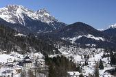 Falcade winter landscape, Dolomites — Stock Photo