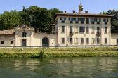 дворец в стиле барокко на канале, кассинетта луганьано ди — Стоковое фото